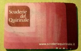 "ITALIA 2015 - ENTRANCE TICKET ""SCUDERIE DEL QUIRINALE"" MUSEUM, USED - Tickets - Entradas"