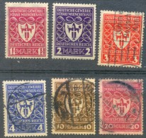 Deutsches Reich Germany 1922 Industrial Exposition Munich, 2 Val MH + 4 Val Used - Allemagne