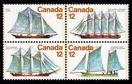 CANADA - Scott #747a Sailing Ships (*) / Mint NH Block (bk678) - Blocs-feuillets