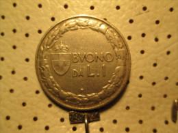 ITALY 1 Lira 1922   # 3 - 1861-1946 : Kingdom