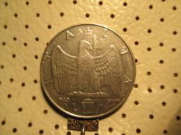 ITALY 1 Lira 1940   # 3 - 1861-1946 : Kingdom
