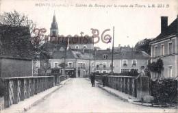 (37) Monts - Entrée Du Bourg Par La Route De Tours - 2 SCANS - France
