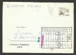 Portugal Carte Postale Timbre Perforé ASA Librarie Et éditeur 1978 Postcard Perfin Stamp Asa Bookstore And Publisher - 1910-... République