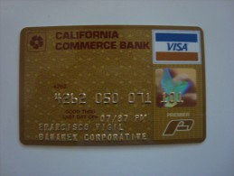 USA - CREDIT CARD - VISA - CALIFORNIA COMMERCE BANK - 1987 - Cartes De Crédit (expiration Min. 10 Ans)