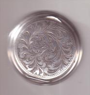Antiquariato-Porta Cipria In Argento Originale Periodo Liberty-Incisione Floreale-gr.29,40-diametro Cm.6-con Specchietto - Non Classificati