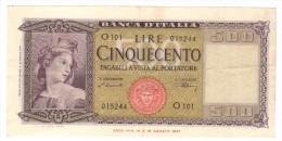Italy 500 Lire 1947 , VF/XF! FREE SHIP. TO USA. - [ 2] 1946-… : Républic