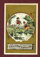 Chromo Dorée, Fables De La Fontaine, Lith. Vieillemard, Les Poissons & Le Berger Qui Joue De La Flûte - Other