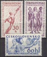 TSCHECHOSLOWAKEI 1958 MI-NR. 1078/80 ** MNH (107) - Unused Stamps