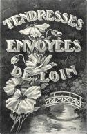 [DC2359] CARTOLINA - TENDRESSES ENVOYEES DE LOIN - Non Viaggiata - Old Postcard - Da Identificare