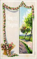 [DC2364] CARTOLINA - FROHLICHE PFINGSTEN - IN RILEVO - STUPENDA - Non Viaggiata - Old Postcard - Cartoline