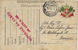 FRANCHIGIA POSTA MILITARE INTEND 4 ARMATA 1915 BELLUNO OSPEDALE CAMPO 042 - Military Mail (PM)