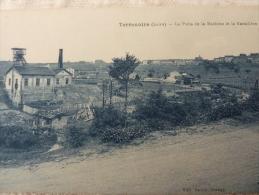 42 St Etienne Terrenoire (loire) Le Puit De La Machine Et La Baraillère  CPA Comme NEUVE MINE - Saint Etienne