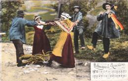 Carte Postale Des Années 50-60 Du Folklore Auvergnat - La Bourrée - Folklore