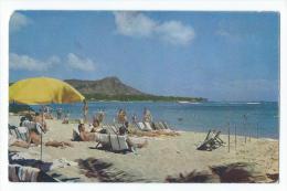 Lazy Waikiki Days - On The Famous Beach At Waikiki - Big Island Of Hawaii