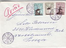 Moulins - Portugal - Lettre De 1971 - Oblitération Lisboa  - - 1910-... République