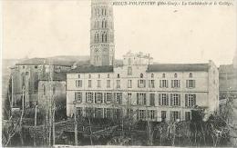 CARTE POSTALE 31 RIEUX VOLVESTRE CATHEDRALE ET COLLEGE - Frankrijk