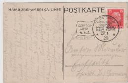 W-See009 / Emanuel Kant Auf H.A.L. Seepost Bildkarte Mit Passendem Stempel 1928 - Deutschland