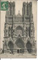 CARTE POSTALE 51 REIMS CATHEDRALE VOYAGEE - Unclassified