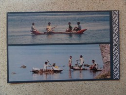 50619 POSTCARD: PAPUA NEW GUINEA: Messing Around In Boats. MILNE BAY PROVINCE, PNG. - Papua New Guinea