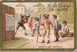 CHROMO A LA PROVIDENCE A. LELONG RUE DE RIVOLI A PARIS ENTREE DU TAUREAU - Chromos