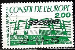 France 1986  Oblitéré N° 93 Conseil De L'Europe  1.90  Vert - Service