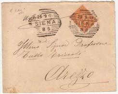 1897 - SIENA / ANNULLO OTTAGONALE A BARRE - SX183 - 1878-00 Umberto I