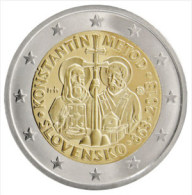 SLOVACCHIA - 2 Euro 2013 - 1150º Anniversario Dell'avvento Di Cirillo E Metodio Nella Grande Moravia - UNC!!! - Slovacchia