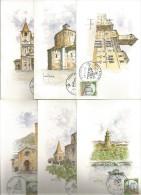 Poste Italiane 2.1.1989, Serie Completa Di 12 Cartoline Apertura Sportelli Filatelici. - Andere