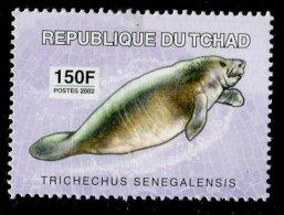 (cl. 3 - P23) Tchad ** N° 1506 (ref. Michel Au Dos) - Le Lamantin D'Afrique - - Tsjaad (1960-...)