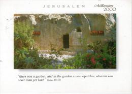 JERUSALEM   THE GARDEN TOMB      MAXI-CARD  (VIAGGIATA) - Palestina