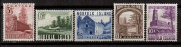 NORFOLK - 5 Valeurs Neuves - Ile Norfolk