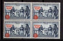 NORFOLK - Service Postal Neuf En Bloc De 4 - Ile Norfolk