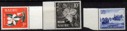 NAURU - 3 Valeurs Neuves TTB - Nauru