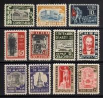 1953 - Cuba - Sc. C79 / C89 - MNH - CU-183 - Poste Aérienne