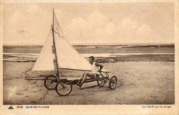 CPA - QUEND-PLAGE (80) - Sport De Plage , La Pratique Du Skiff , Char à Voiles En 1930 - Quend