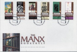 Isle Of Man First Day Cover To Celebrate The Manx Bookshelf From 2003 - Isla De Man