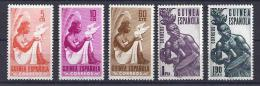 ESPAÑA/GUINEA 1953 -EDIFIL # 325/29** Precio Cat. €10.25 - Guinea Spagnola