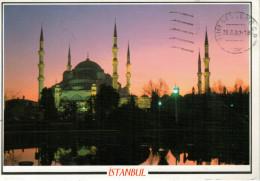 ISTAMBUL   SULTANAHMET  CAMIL  THE BLUE MOSQUE     MAXI-CARD   (VIAGGIATA) - Turchia