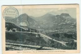 VILLARD De LANS - Ligne De Chemin De Fer - Vue Sur Grenoble Et Massif Grande Chartreuse - 2 Scans - Villard-de-Lans