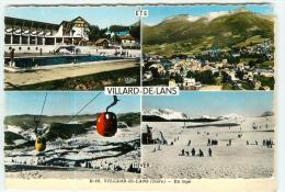 VILLARD De LANS En 4 Vues Couleur - 2 Scans - Villard-de-Lans