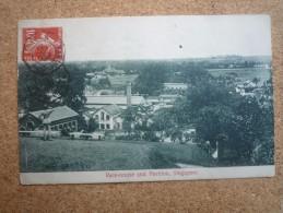 Carte Postale Singapore Affranchie Semeuse Oblitération Ligne N PAQ.FR. N°4 1909 - Poststempel (Briefe)