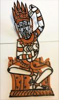 CAMBODGE/CAMBODIA. Couple D'Apsaras D´Angkor Wat (art Khmer,nymphes Célestes De Grande Beauté) En Peau De Buffle - Souvenirs