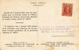 Nr 3303 B, Bruxelles, Op Reklamekaart Oeuvre Nationale De L'Enfance (7646) - Préoblitérés