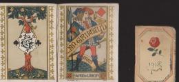 Lot De 2 Calendriers:Grimaud 1896 (7,5 X 5,5 Fermé) Et Autre 1918 (3,6 X5,5 Fermé) - Autres Collections