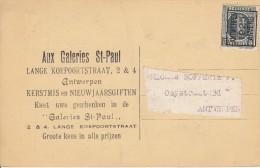 Nr 121 A, Op Reklamekaart Aux Galeries St. Paul, Rubens (7650) - Préoblitérés