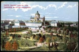 Lwow, Katedra Ruska Sw. Jura, Lemberg,St.Georgs Kathedrale,11.4.1917,k.u.k. Feldpost 185,permanenter Krankenzug No. 22, - Ukraine