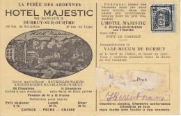 Nr 156 B, Bruxelles, Op Reklamekaart Hotel Majestic Durbuy, Agence De Voyages Geurts (7652) - Préoblitérés