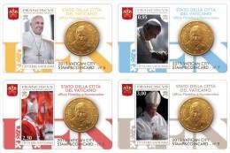 2015 - VATICANO  - VATICAN - STAMP&COIN CARD 2015 - Serie  - NH - MINT - H29062012.... - Vaticano
