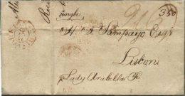 "NICE LETTER FROM LONDON (1813.07.28) TO LISBON, SHIP ""HOWAT"" - ...-1840 Prephilately"