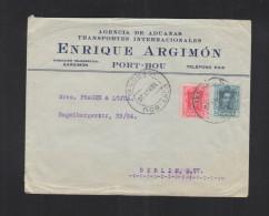 Carta Port-Bou 1926 - 1889-1931 Königreich: Alphonse XIII.